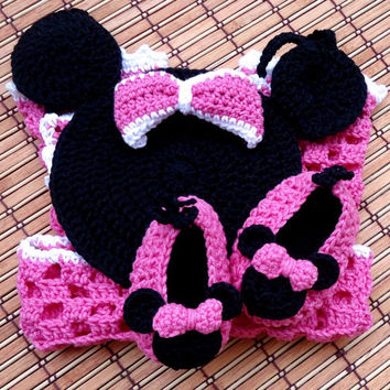 E-Book Minnie Romper and Shoes Crochet P Pattern