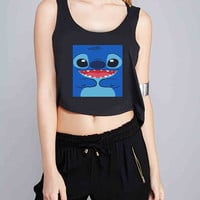 Stitch Lilo And Stitch for Crop Tank Girls S, M, L, XL, XXL *07*