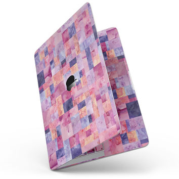 Purple and Pink Watercolor Patchwork - MacBook Pro without Touch Bar Skin Kit