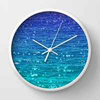SEA SPARKLE Wall Clock by catspaws