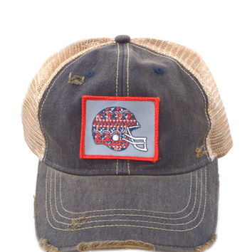 Judith March Gameday Hat (Red & Blue)