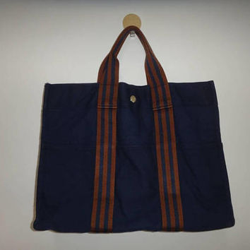 Chrismas Xmas Sale Hermes Fourre Tout Tote Bag 100 % Cotton Handbag