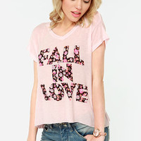 Element Eden Fall in Love Pink Tee