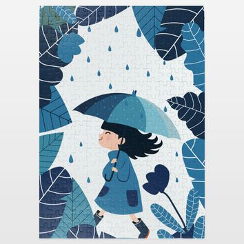 All in Blue Jigsaw Puzzle by Playedonwalls on BoomBoomPrints