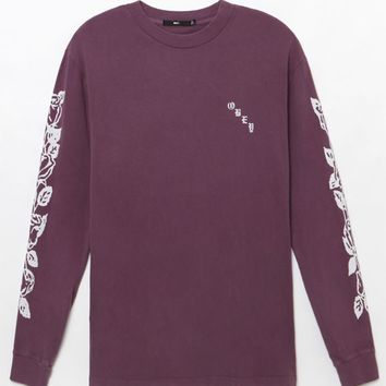 OBEY Olde Rose Pigment Long Sleeve T-Shirt at PacSun.com
