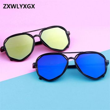 2018 New Fashion Goggle  Small Frame Polygon Clear Lens Sunglasses Men Brand Vintage Sun Glasses Hexagon Metal Frame uv400