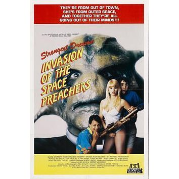 Invasion Of The Space Preachers Movie poster Metal Sign Wall Art 8in x 12in