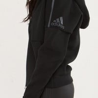 """Adidas"" Fashion Hooded Zipper Cardigan Sweater Sweatshirt Black"