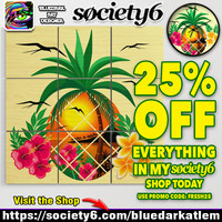25% Off Everything with Code FRESH25 - on BluedarkArt's Society6 Shop!