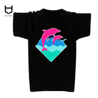 Men Pink Dolphin T Shirt  Casual Hiphop Tees Tops Camisas O-Neck Pinkdolphin tshirt Plus Size XXXL graphic Printed tees tops