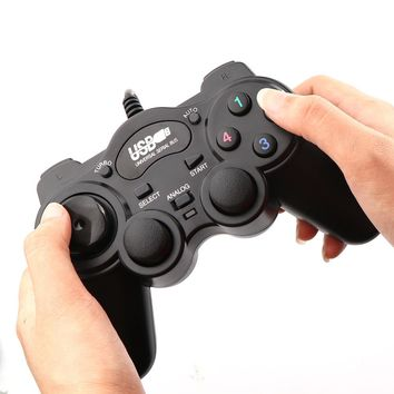 FORNORM Wired USB 2.0 Black Gamepad Joystick Joypad Gamepad Game Controller For PC Laptop Computer For Win7/8/10 XP/for 2000
