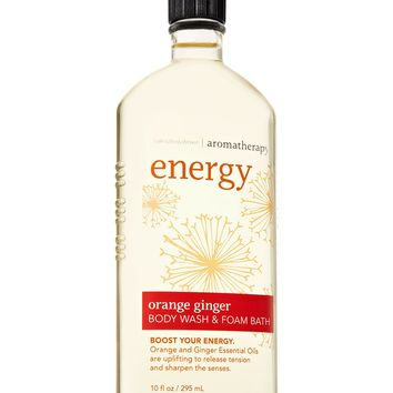Bath & Body Works AROMATHERAPY Energy ORANGE GINGER Body Wash & Foam Bath 10 oz