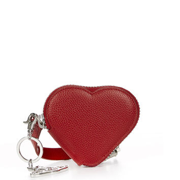 Vivienne Westwood Women's Designer Wallets and Purses | Vivienne Westwood - Johanna Heart Coin Purse With Orb Gadget 51070018 Red
