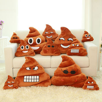 emoji pillow cushion decorative pillows big poop pillow cojines  Smiley Face Plush pillow  emoticons cushions smile emoji pad