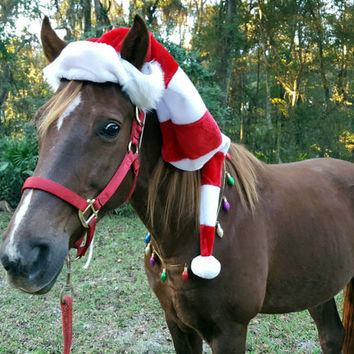 Elf Hat For Horse Or Pony Equine Christmas