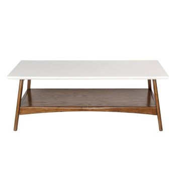 Madison Park Parker Coffee Table in Pecan/White
