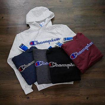 Champion Long Sleeve Hedging Top Pullover Sweater Hoodie