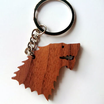 Wooden Stark Sign Keychain, Walnut Wood, Game of Thrones Keychain, Environmental Friendly Green materials