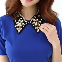 Beaded flower Jewelry nacklace collar