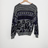 Vintage 90s Rettro Patterned Sweater