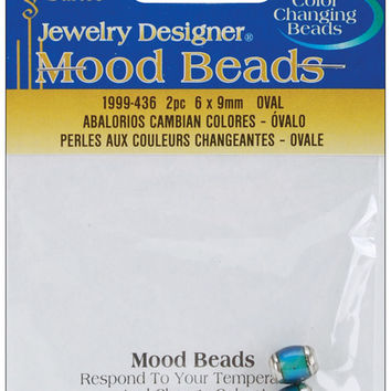 mood beads 2/pkg-6x9mm oval
