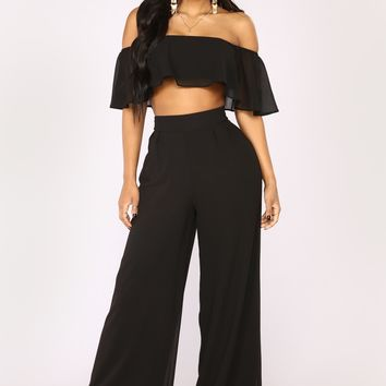 Low Rider Pant Set - Black