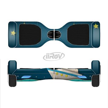 The Layered Paper Night Ship with Gold Stars Full-Body Skin Set for the Smart Drifting SuperCharged iiRov HoverBoard
