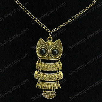 Owl Necklace  bronze Owl  Tiny Small Owl Necklace    Graduation Gift  Lawyer Doctors Nurse Teacher Gift