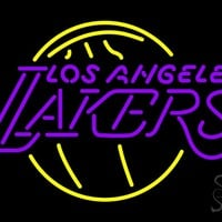 "Los Angeles Lakers NBA Outdoor Neon Sign 24"" Tall x 31"" Wide x 3.5"" Deep"