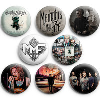 Memphis May Fire Pinback Buttons Pins Badges 1.25 inch 8Pcs New