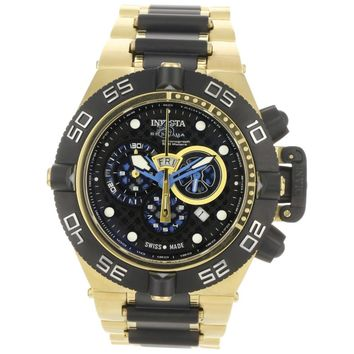 Invicta 6563 Men's Subaqua Noma IV Black Dial Two Tone Steel Bracelet Chronograph Dive Watch
