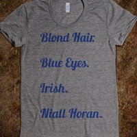 Niall Description Tee  - One Direction Infection