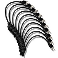 Etekcity 10 Pack Power Extension Cord Cable Strip, 16AWG/13A, UL Listed, 2015 Upgraded Version