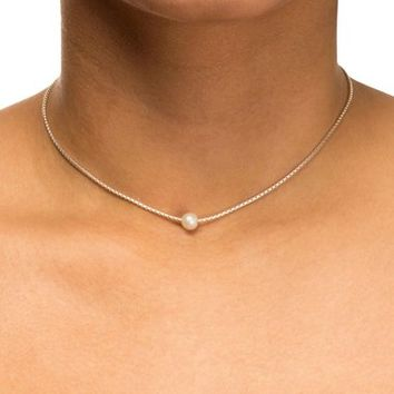 Dogeared Box Chain Pearl Necklace | Nordstrom