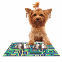 "Trebam ""Jesen"" Green Yellow Dog Place Mat"