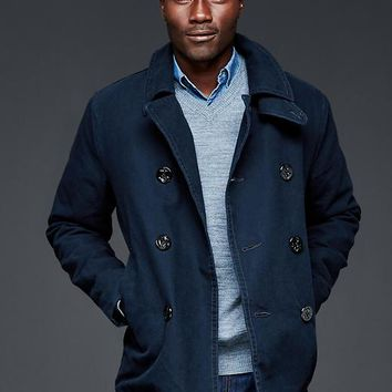 Gap Men Canvas Peacoat