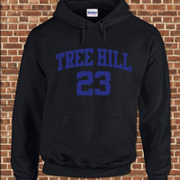 TREE HILL RAVENS - Mens Hooded Sweatshirt -all sizes - vintage one basketball jersey style hoodie