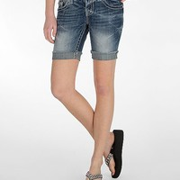 Miss Me Frayed Bermuda Stretch Short
