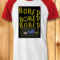 bored bored bored sherlock Baseball Tees-1y4 Unisex Raglan Tees For Man And Woman / T-Shirts / Custom T-Shirts / Tee / T-Shirt