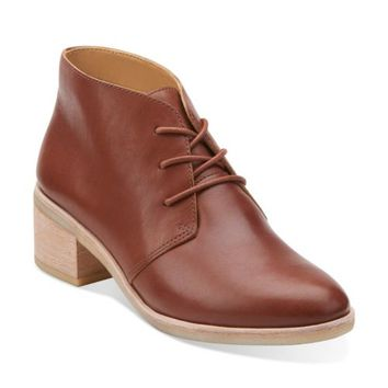 Phenia Carnaby Tan Leather - Clarks Womens Shoes - Womens Heels and Flats - Clarks - Clarks