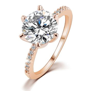 Rose Gold Color Crystal Ring