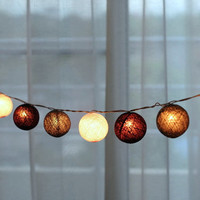 20 x Grey tone white smart classic Lantern cotton ball lantern string light patio Indoor decorate deco room bedroom patio wedding