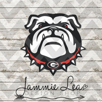 Georgia Bulldogs Dawgs - Bulldog - Custom - Vinyl Decal - State - College Football - Game Day