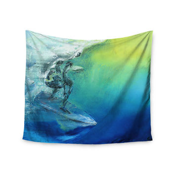 "Josh Serafin ""September High"" Blue Green Wall Tapestry"