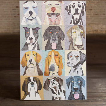 emotional dogs / oil painting
