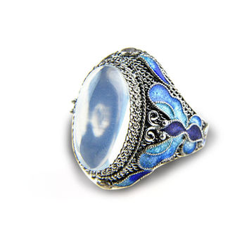 Ring mirror Astral, Silver 925, ring, fact, Moonstone