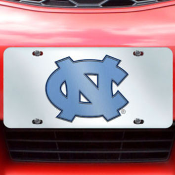 "UNC University of North Carolina license plate inlaid 6""x12"""