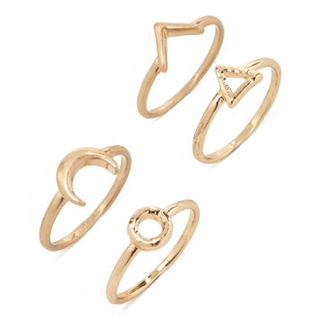 Moon and Geo Ring Set | Forever 21 - 1000171653