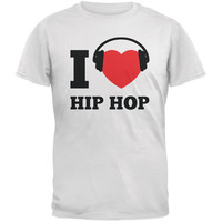 I Heart Hip Hop White Adult T-Shirt