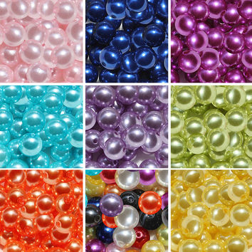 4mm 6mm 8mm Acrylic Imitation Pearl Beads For Jewelry Making DIY Jewelry Findings Fit Bracelet Necklace